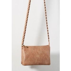 anthropologie multi pocket braided strap crossbody